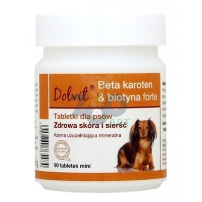 Dolvit Beta karoten & biotyna forte Mini 90 tabletek