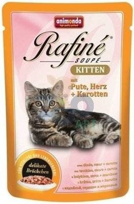 ANIMONDA Cat Rafine Soupe Kitten smak: indyk & serca + marchew 12 x 100g