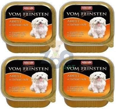 ANIMONDA Dog Vom Feinsten Adult smak: drób i cielęcina 24 x 150g