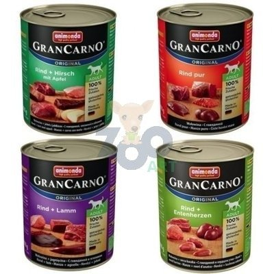 ANIMONDA GranCarno Adult Dog MIX smaków 30 x 800g