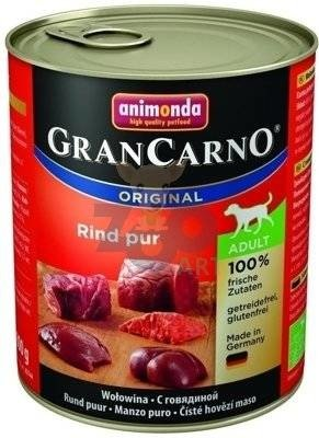 ANIMONDA Grancarno Adult Dog smak: Wołowina  12 x 800g