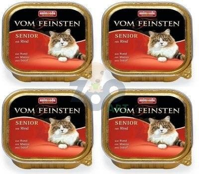 ANIMONDA Vom Feinsten Senior Cat smak: z wołowiną 30 x 100g