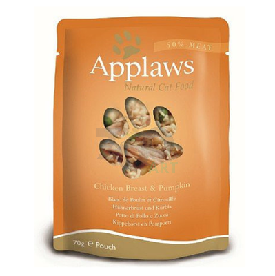 APPLAWS Natural Cat Food Kurczak I Dynia 6 x 70g saszetka