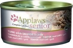 APPLAWS Natural Cat Food Senior w galarecie 70g Tuńczyk z łososiem