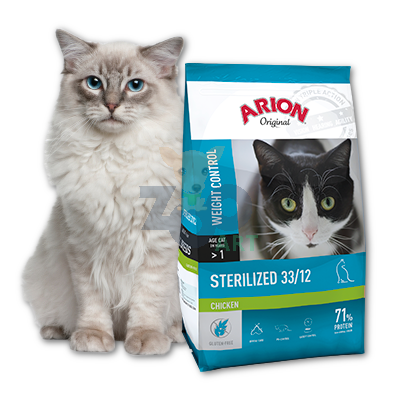 ARION Original Sterilized 33/12 Chicken 2kg