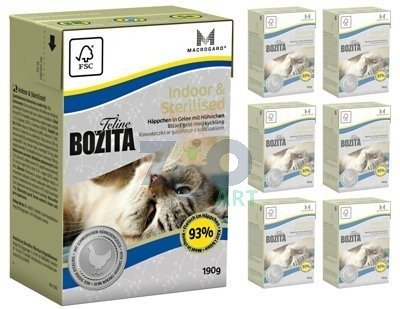 BOZITA Feline Indoor Sterilised 6 x 190g