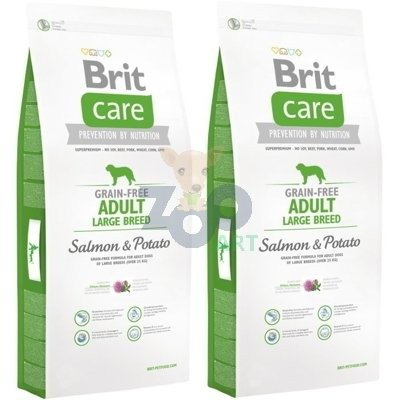 BRIT Care Grain-Free Adult Large Breed Salmon & Potato 2x12 kg