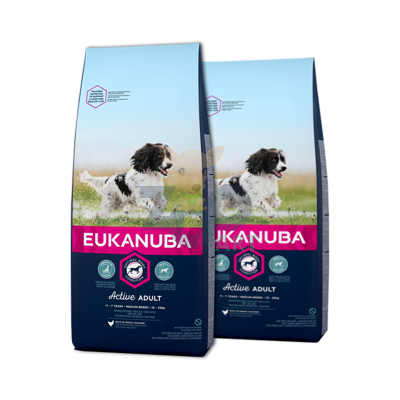 EUKANUBA Adult Medium Breed Chicken 2x15kg