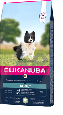EUKANUBA Adult Small&Medium Breed Rich In Lamb & Rice 12kg