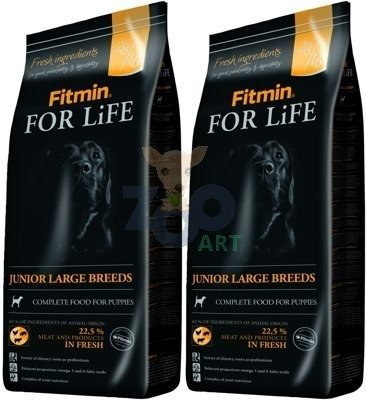 FITMIN For Life Junior Large Breeds 2x15kg