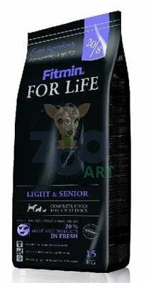 FITMIN For Life Light & Senior 15kg + 5x Kabanosy+ 5x Paszteciki