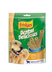 FRISKIES DENTAL DELICIOUS MEDIUM & LARGE PRZYSMAK DLA PSÓW 200 g, 7 szt.