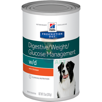 HILL'S PD Prescription Diet Canine w/d 6 x 370g - puszka