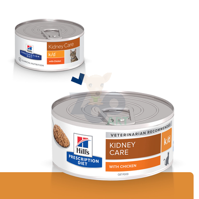 HILL'S PD Prescription Diet Feline k/d 156g kurczak - puszka (pasztet)