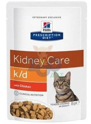 HILL'S PD Prescription Diet Feline k/d Kurczak - saszetka 6 x 85g