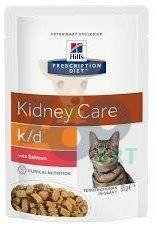 HILL'S PD Prescription Diet Feline k/d łosoś 12 x 85g - saszetka