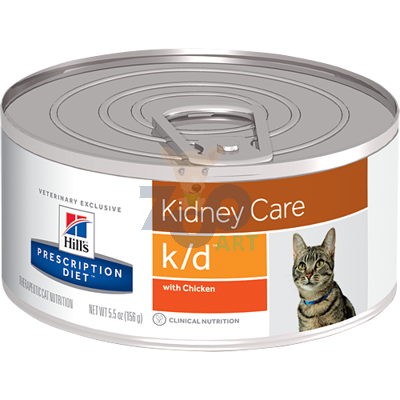 HILL'S PD Prescription Diet Feline k/d - puszka (pasztet) 6 x 156g kurczak