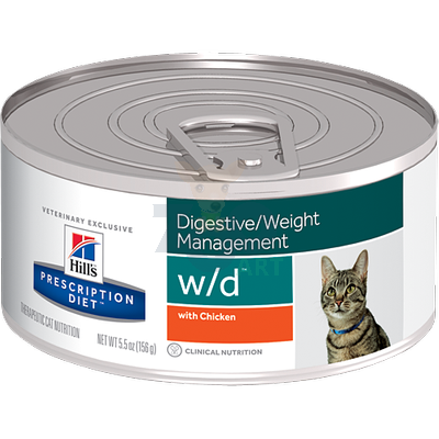 HILL'S PD Prescription Diet Feline w/d 156g puszka