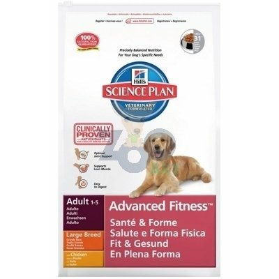 HILL'S SP Science Plan Canine Adult Advanced Fitness Large Breed Kurczak 12kg