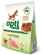 OPTI MEAL for Kitten z drobiem 4,3 kg (wiaderko)