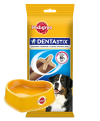 PEDIGREE DentaStix 4x270g + Miska Pedigree GRATIS!