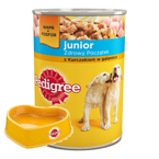 PEDIGREE Junior kurczak 24x400g + Miska Pedigree GRATIS!