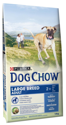 PURINA Dog Chow Adult Large Breed 14kg + 5x Kabanos