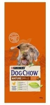 PURINA Dog Chow Mature Adult Chicken 14kg + 5x Kabanos