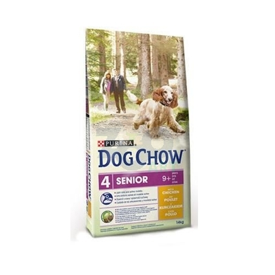 PURINA Dog Chow Senior Chicken 14kg + 5x Kabanos