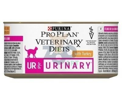 PURINA Veterinary PVD UR Urinary Cat Indyk 6x195g puszka