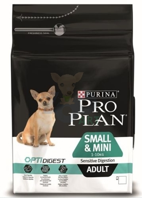 Purina Pro Plan Small & Mini Adult Sensitive Optidigest, kurczak i ryż 3kg