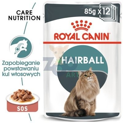 ROYAL CANIN Hairball Care 24x85 g w sosie