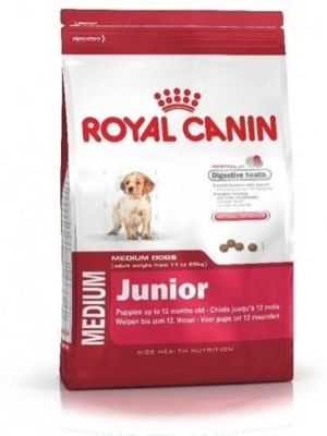 ROYAL CANIN Medium Junior 15kg + 5x Kabanosy
