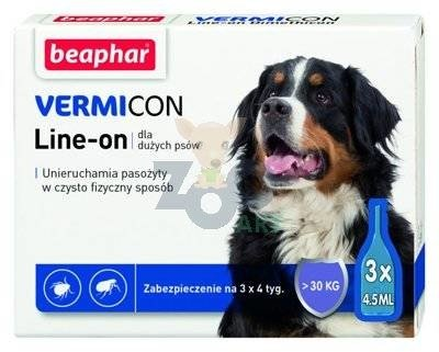 VERMICON Line-on Pies L powyżej 30kg (pipeta 3 x 4,5ml)