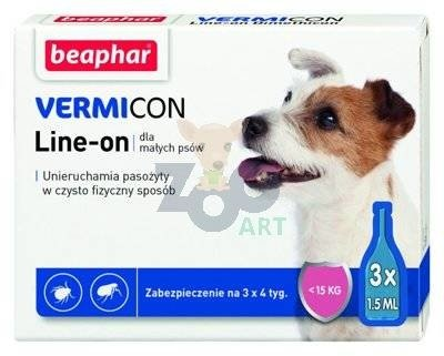 VERMICON Line-on Pies S poniżej 15kg (pipeta 3 x 1,5ml)
