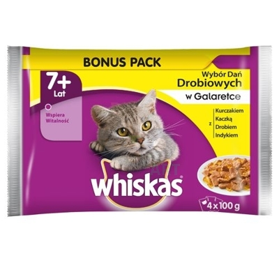 Whiskas Senior Drób w galaretce 4 x 100g