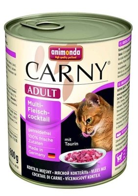 ANIMONDA Cat Carny Adult smak: multi koktajl mięsny 800g