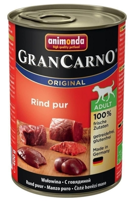 ANIMONDA GranCarno Adult Dog smak: Wołowina 400g