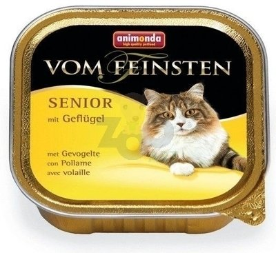 ANIMONDA Vom Feinsten Senior Cat smak: z drobiem 6 x 100g