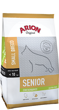 ARION Original Senior Small Breed Chicken & Rice 3kg