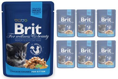 BRIT Cat Kitten Kurczak 6x100g