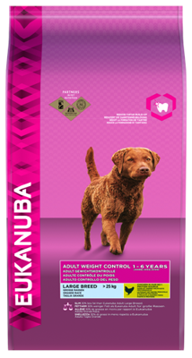EUKANUBA Adult Large Breed Weight Control Chicken 15kg
