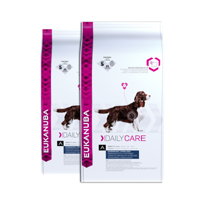 EUKANUBA Daily Care Overweight, Sterilized Dogs 2x12,5kg