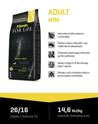 FITMIN For Life Mini Adult 15kg