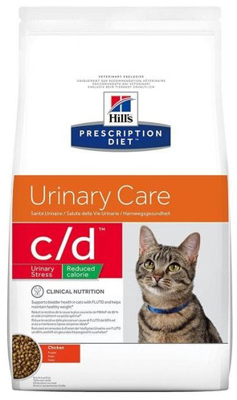HILL'S PD Prescription Diet Feline c/d Urinary Stress Reduced Calorie 4kg + PRZESYŁKA GRATIS!!!