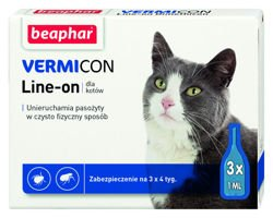 VERMICON Line-on Kot (pipeta 3 x 1ml)