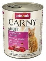 ANIMONDA Cat Carny Adult smak: multi koktajl mięsny 6x800g