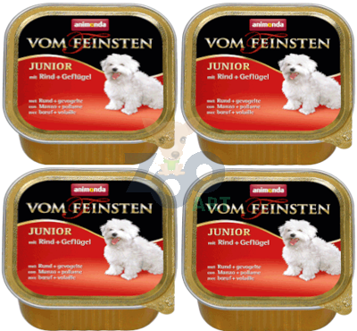 ANIMONDA Dog Vom Feinsten Junior smak: wołowina z drobiem 6 x 150g