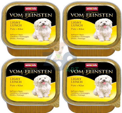 ANIMONDA Dog Vom Feinsten Light Lunch smak: indyk z żółtym serem 22x150g