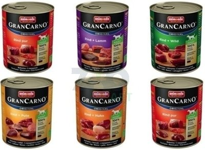 ANIMONDA GranCarno Adult Dog MIX smaków II 30 x 800g (27+3 Gratis)